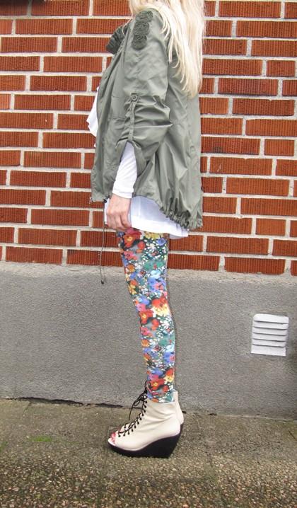 d7b6fc69ccb6 Idag har jag på mig rosa linne från Cherry Tee, vit långärmad topp från  Selected Femme, volangväst från H&M, blommiga leggings från H&M The Organic  ...