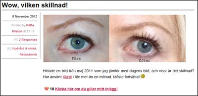 Xlash ögonfransserum för vårfina långa fransar