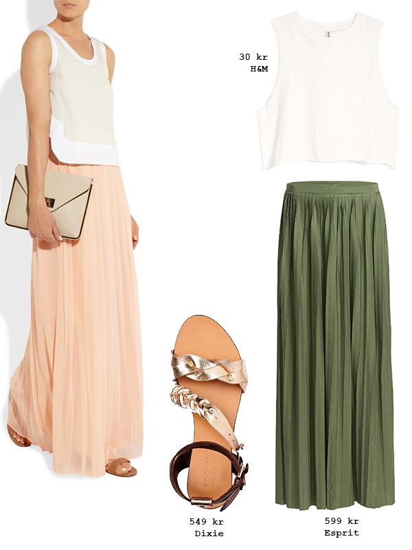 grön lång kjol