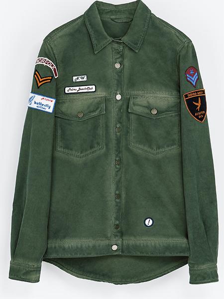 Grön skjortjacka Zara