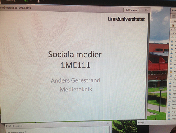Sociala medier kurs 1ME111