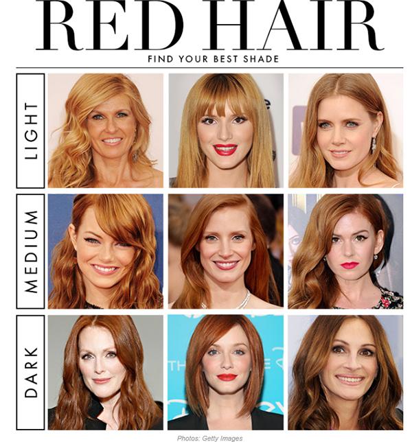 rött till blont hår