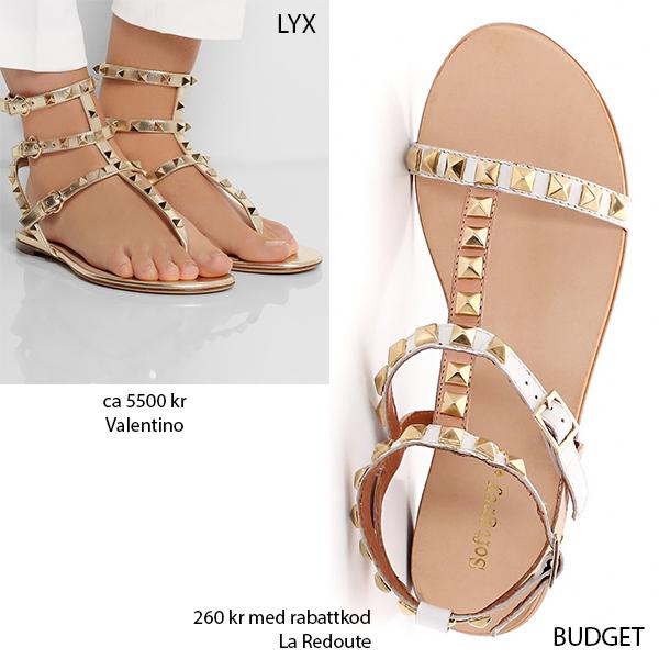 sandaler med nitar