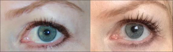 Långa fransar med Xlash ögonfransserum