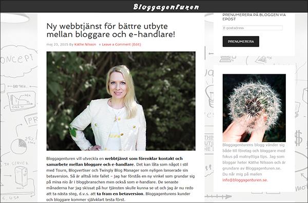 bloggagenturen webbtjanst