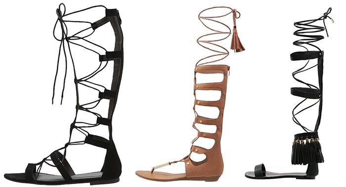 hogskaftade sandaler