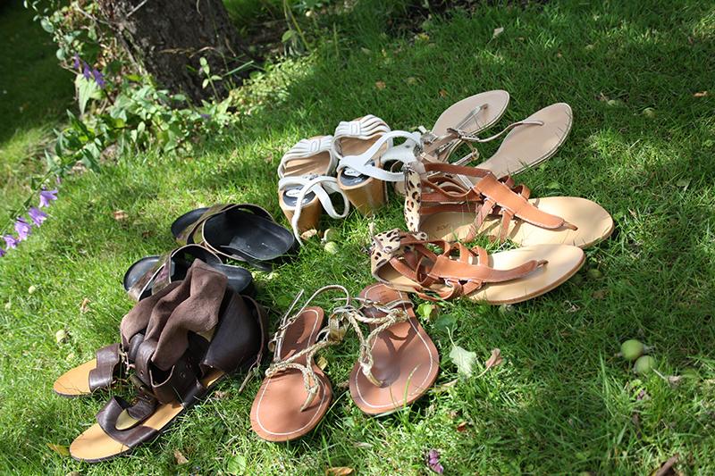 sommarens sandaler