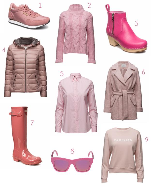 rosa kläder