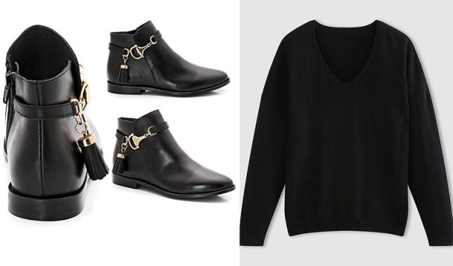 svart kashmir boots