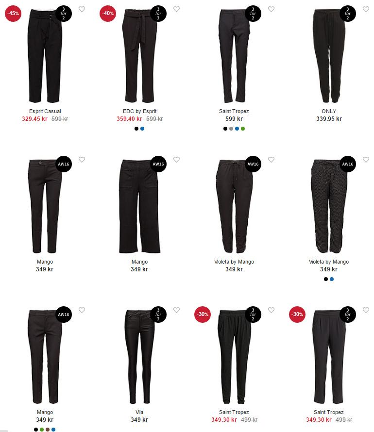 Svarta byxor 3 för 2