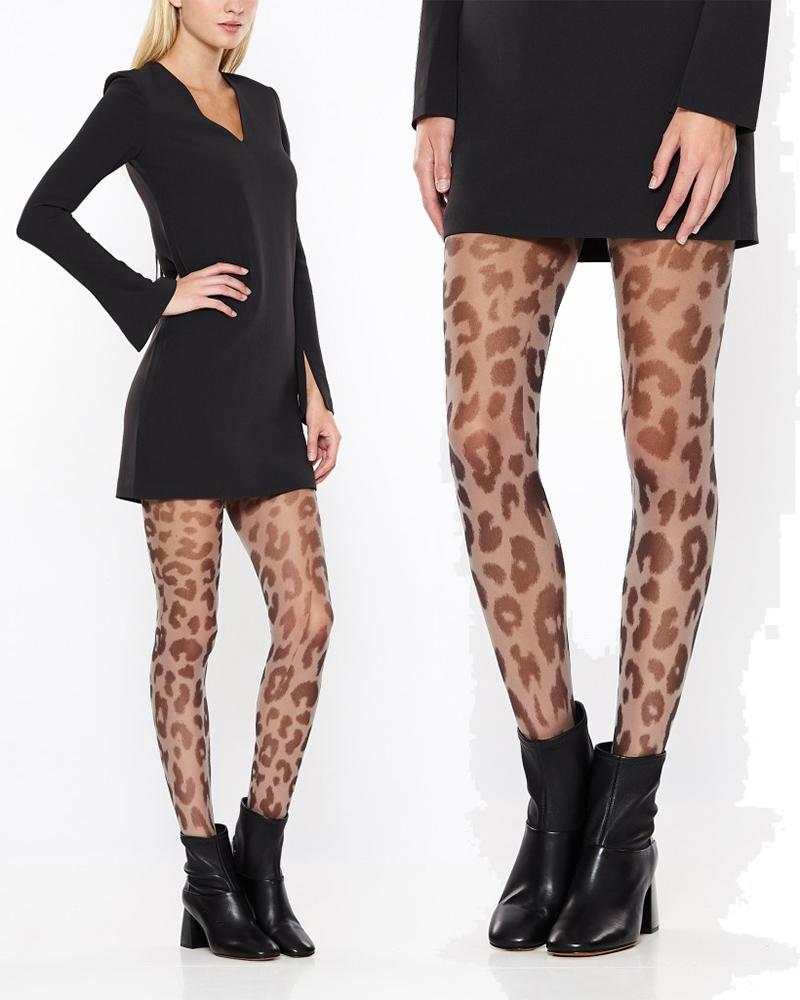 leopard-strumpbyxor