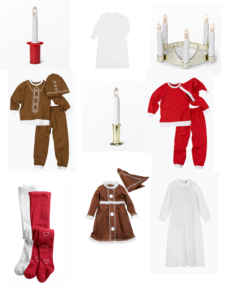 Luciakläder barn pepparkaksgubbe lucia tomte