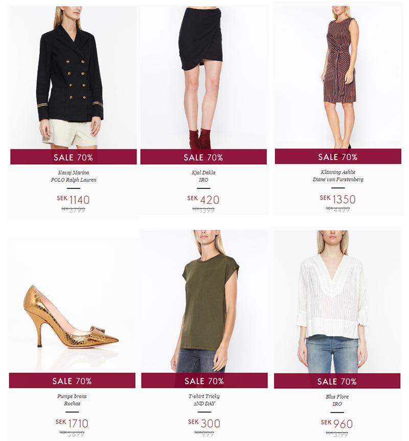 70% rabatt på designerkläder