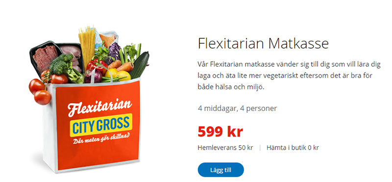 City Gross matkasse Flextarian