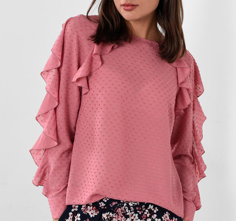snygg blus rosa mq