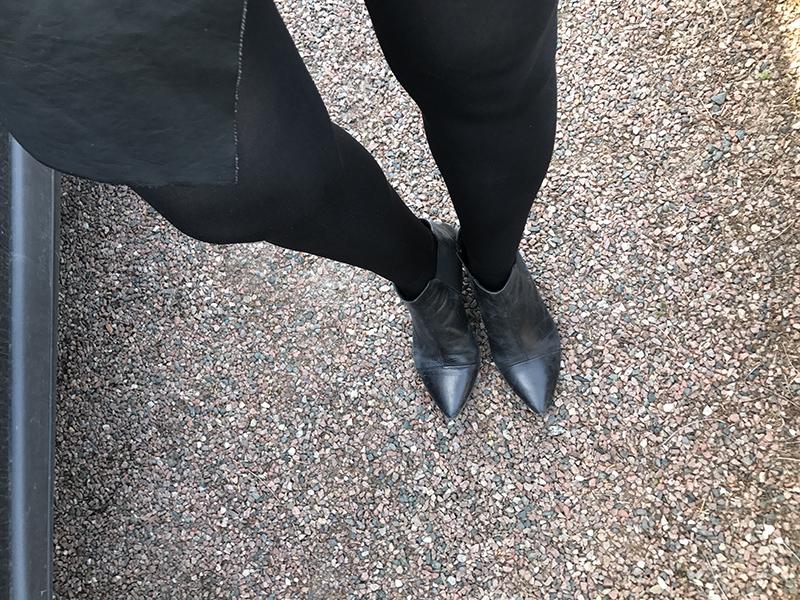 spetsiga skor