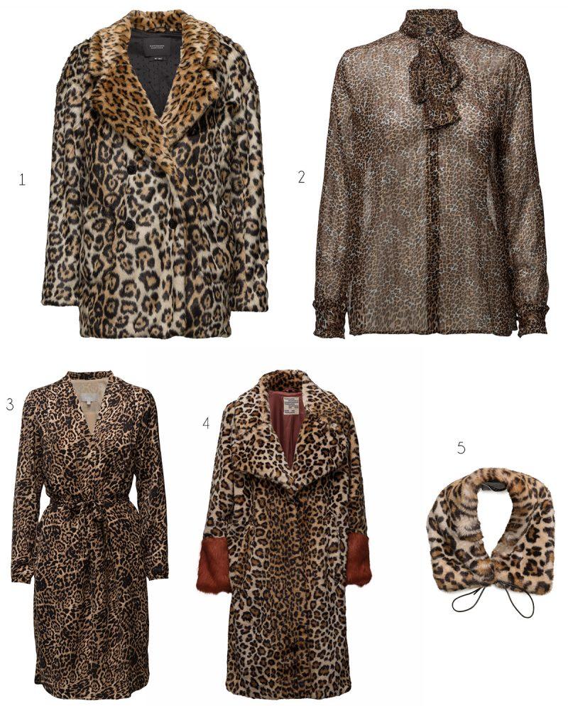 5 leopardmönstrade plagg