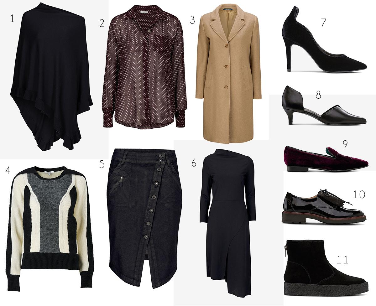 Ellos höstiga kläder och skor