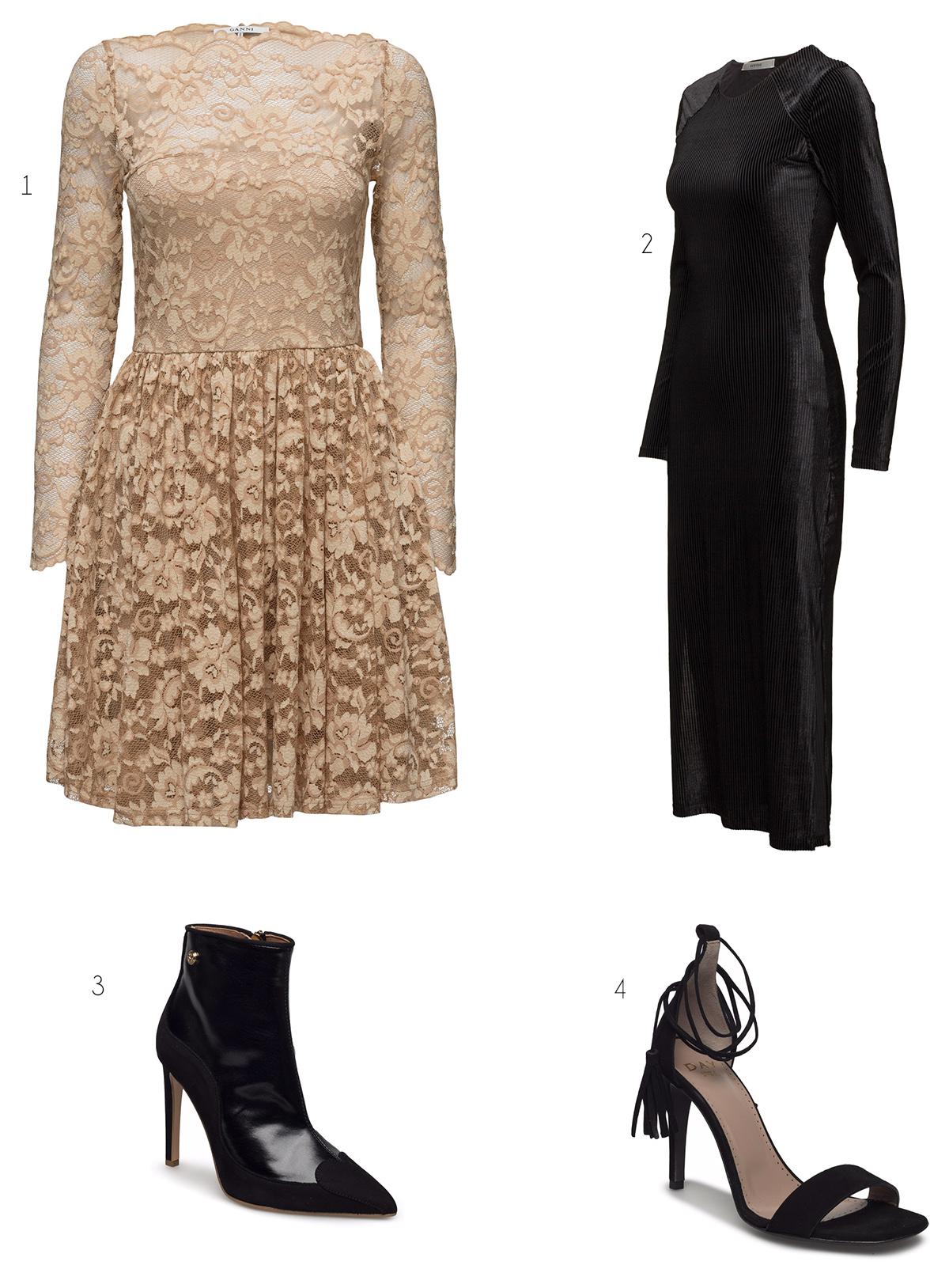 olika skor till klänningar