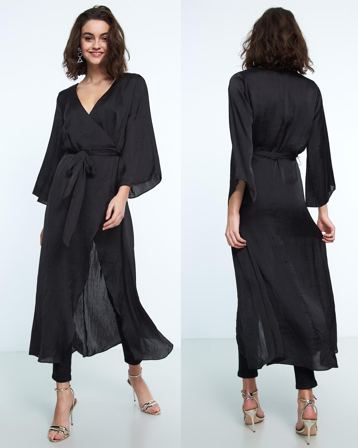lång svart festklänning bra pris