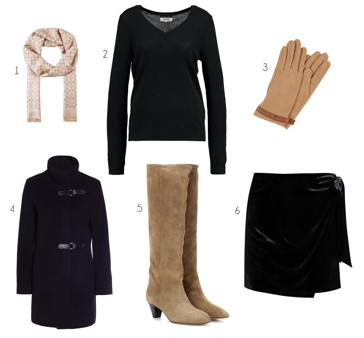 outfit beige svart