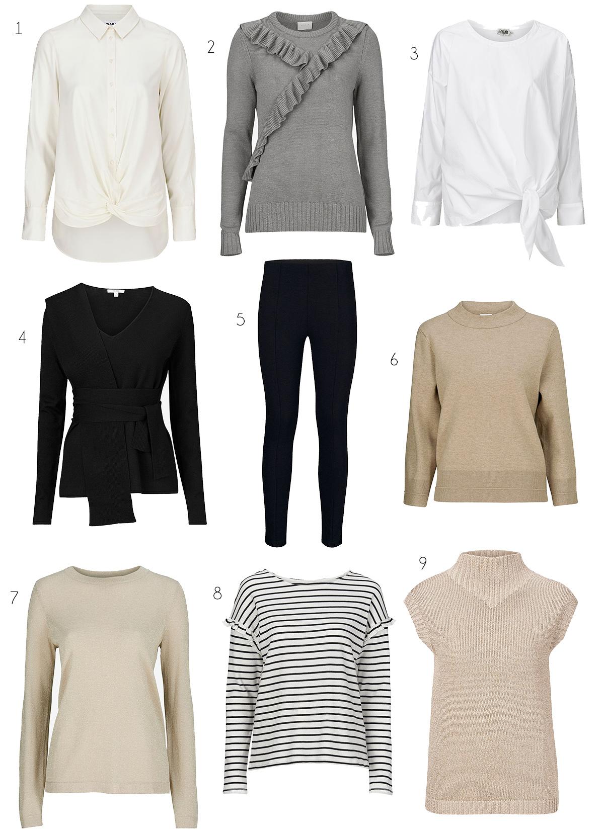 Ett par svarta byxor och åtta överdelar. Svarta byxor är helt otroligt bra  att ha i garderoben – någon ny topp till så blir det en ny outfit. 5912b3bec5200