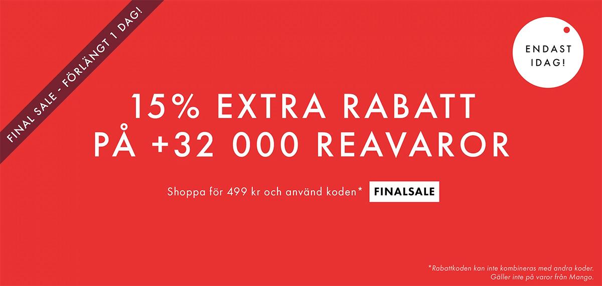 c812c5f0 Använd rabattkoden FINALSALE och shoppa för minst 499 kr så blir rabatten  din. Erbjudandet gäller ...