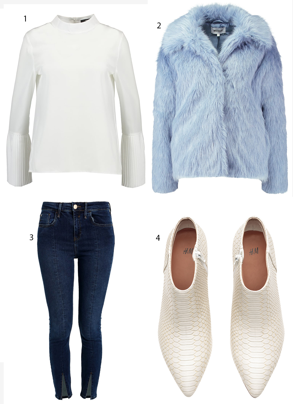 blått och vitt