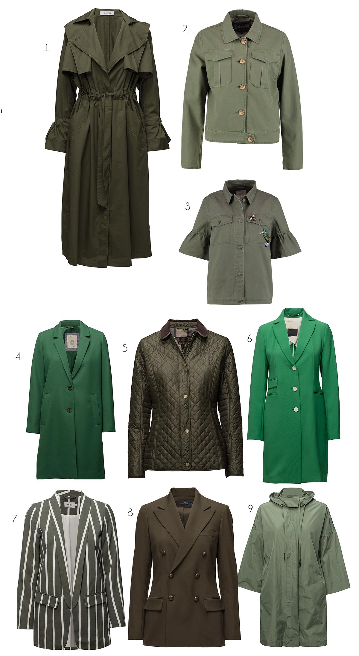 gröna jackor