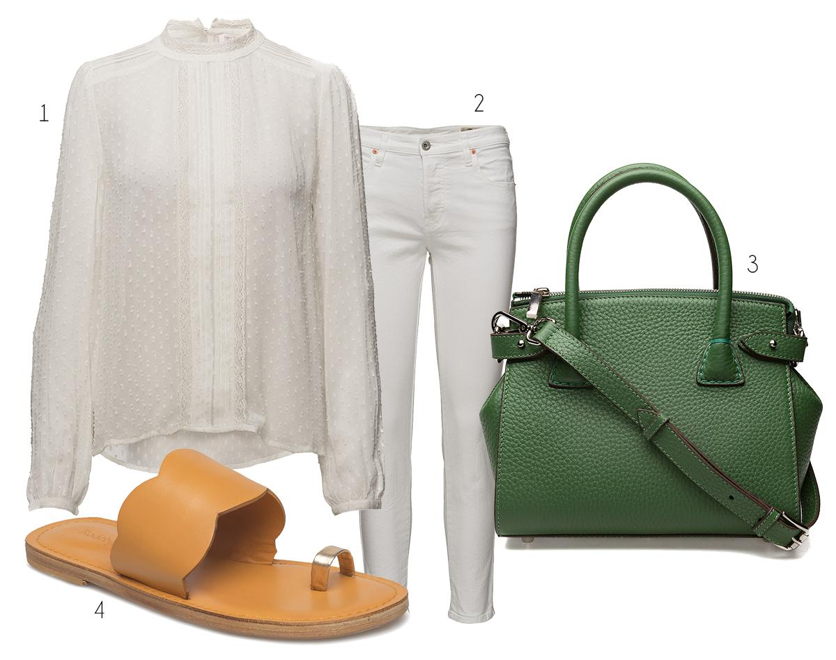 vitt natur grönt
