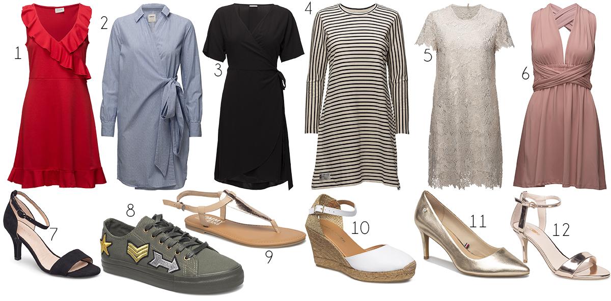 skor till klänning