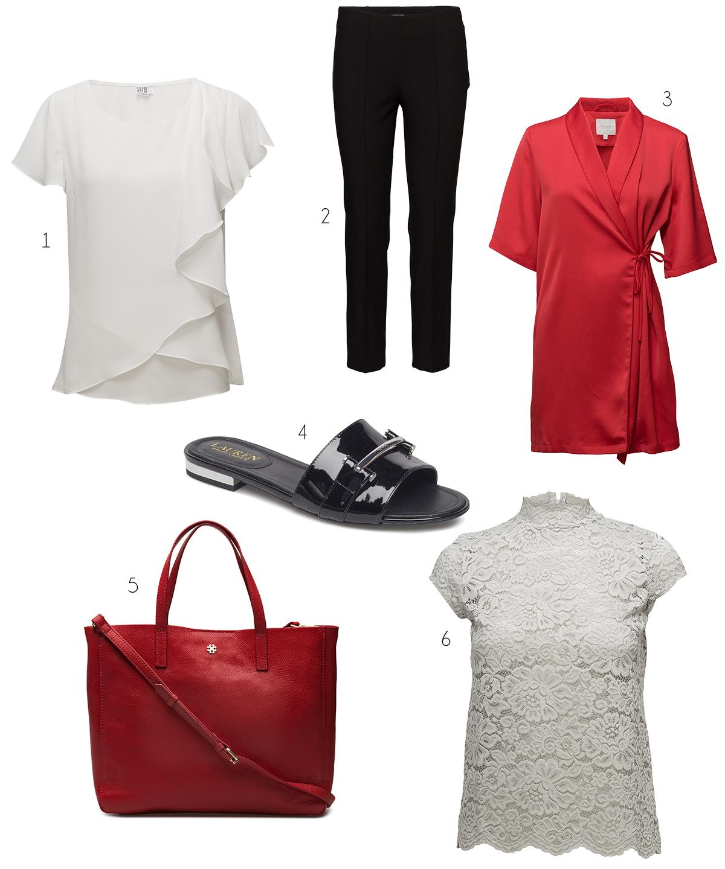 Jag är obotligt förtjust i färgkombinationen svart och vitt med rött med  accent. Här har jag valt ut plagg och accessoarer från Boozt dubbelrea med  just ... be8766787f152