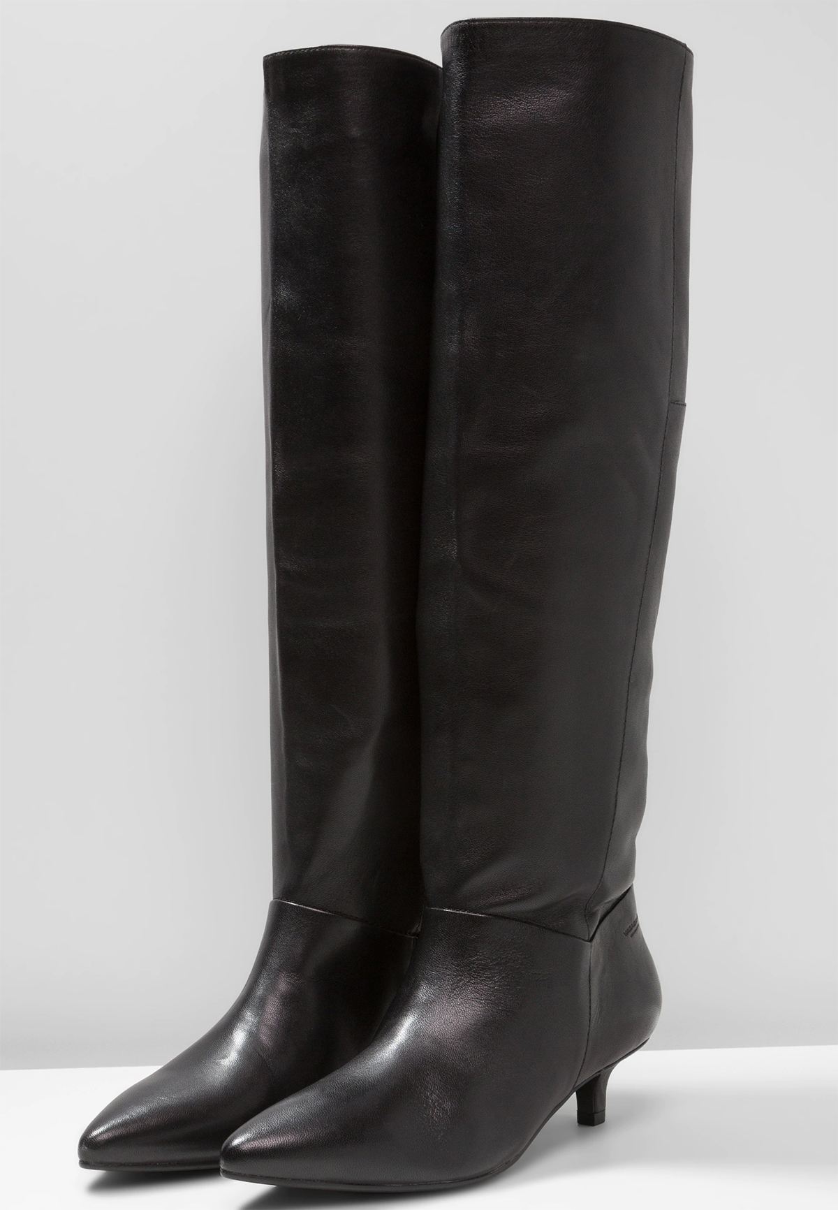 black leather minna boots