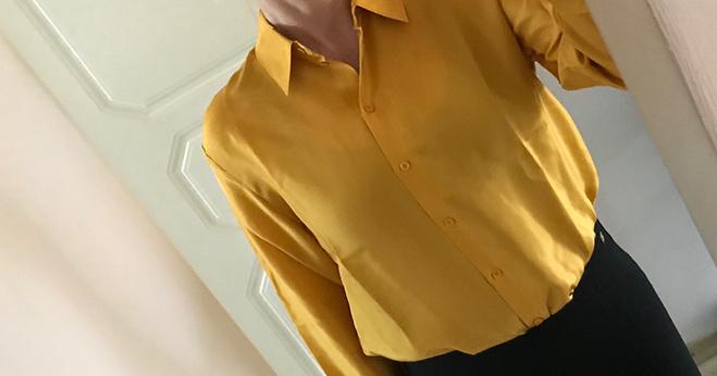 gul sidenblus
