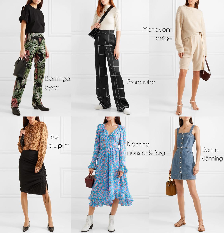 Jag spanade in det det senast inkomna hos Net-a-Porter och hittade snabbt 6  av vårens modetrender. Vad gillar du bäst av blommiga byxor aefdc9f92a6a6
